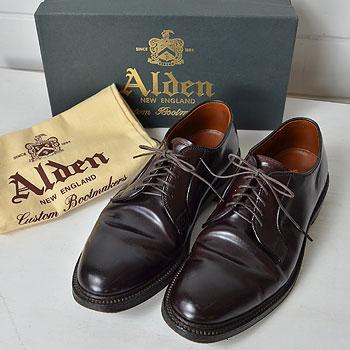 ALDEN|オールデン 990コードバン プレーントゥ バーガンディ|買取査定