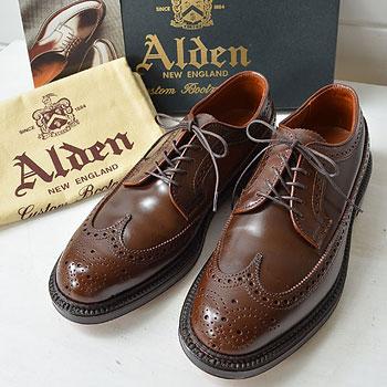 ALDEN|オールデン 9750 ラベロ コードバン ロングウイングチップ|買取査定