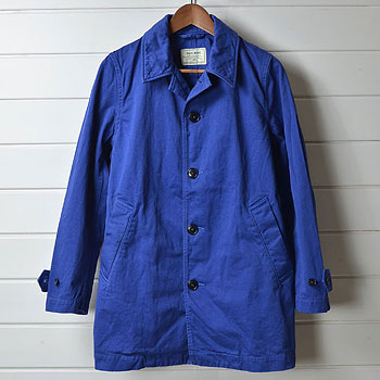 KATO` BASIC カトー ステンカラーコート ブルー 買取成立